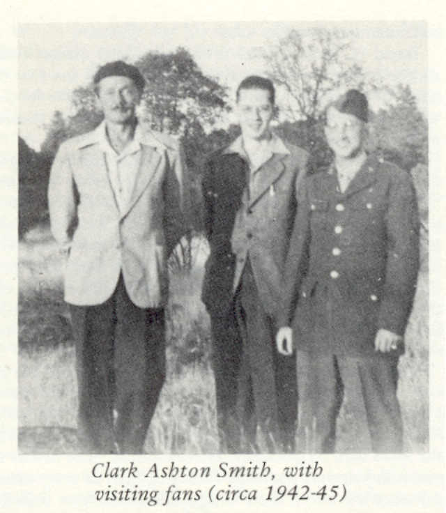 Clark Ashton Smith with Visiting Fans