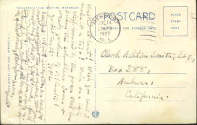 Postcard To Clark Ashton Smith